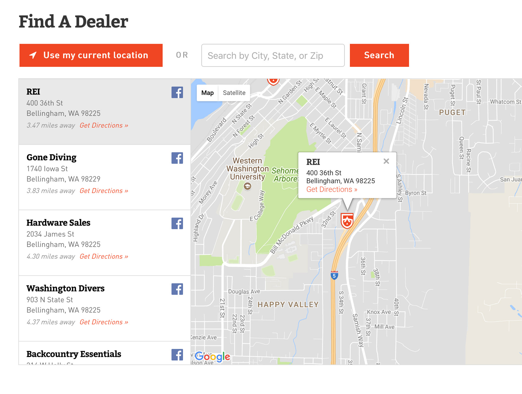 GEAR AID dealer locator