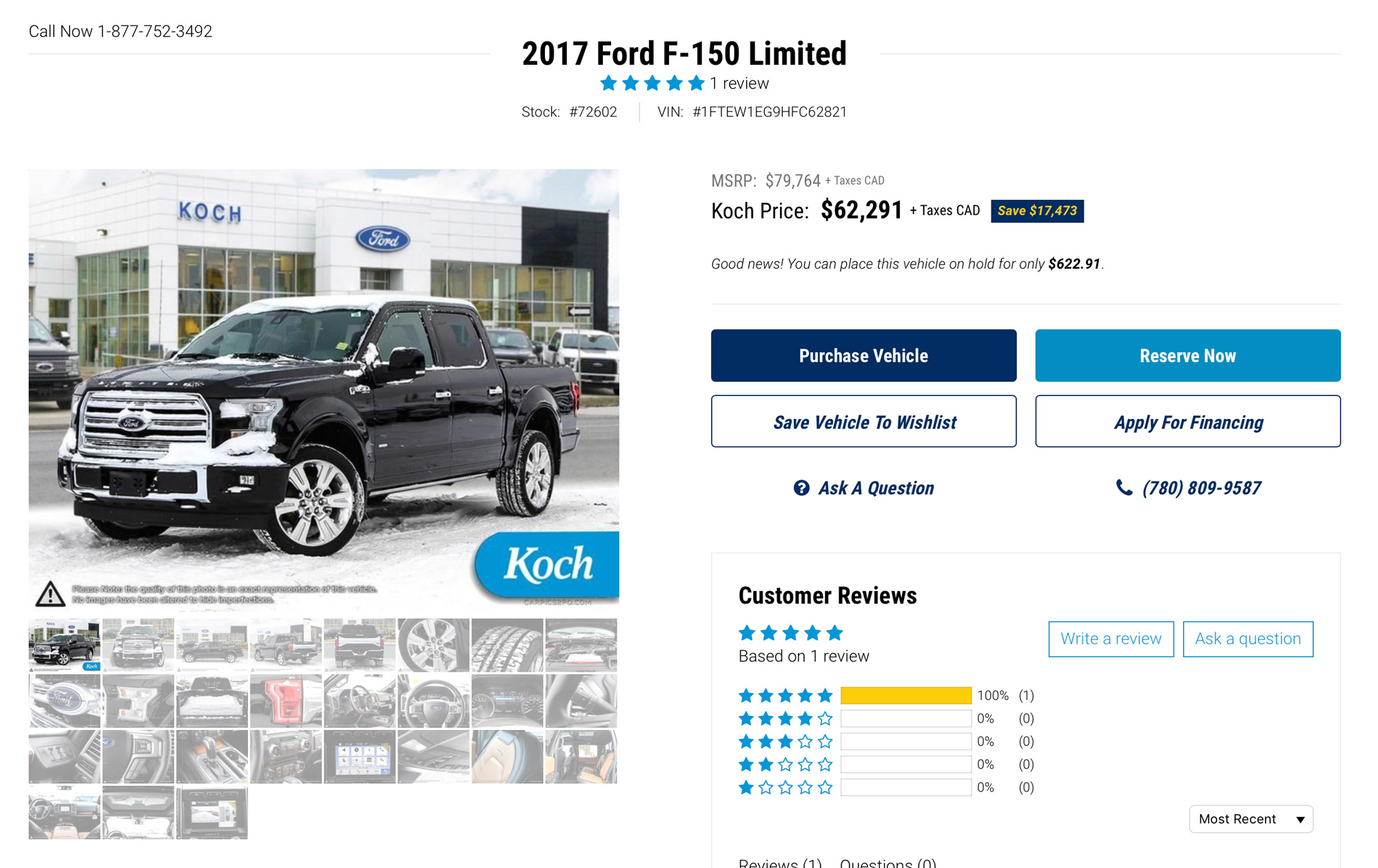 Koch Ford purchase options
