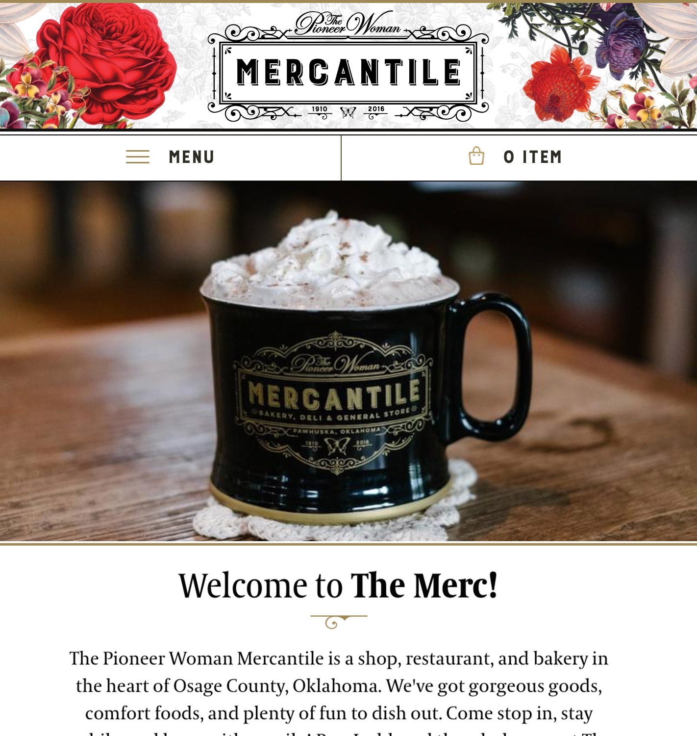 The Mercantile Mobile Shopify Theme